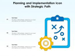 Planning And Implementation Icon With Strategic Path