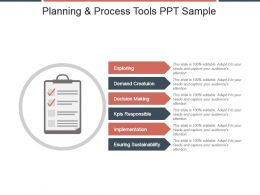 Planning And Process Tools Ppt Sample