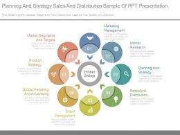 Planning And Strategy Sales And Distribution Sample Of Ppt Presentation