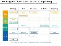 Planning Beta Pre Launch In Market Supporting Portfolio Swimlane