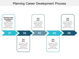 Planning Career Development Process Ppt Powerpoint Presentation Slides Graphics Cpb