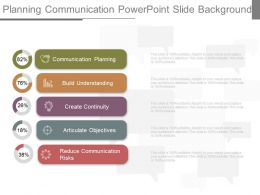 Planning Communication Powerpoint Slide Background