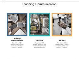 Planning Communication Ppt Powerpoint Presentation Outline Example Introduction Cpb