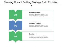 Planning Control Building Strategy Build Portfolio Deploy Portfolio