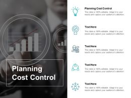 Planning Cost Control Ppt Powerpoint Presentation Portfolio Outfit Cpb