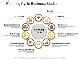 Planning Cycle Business Studies Powerpoint Graphics