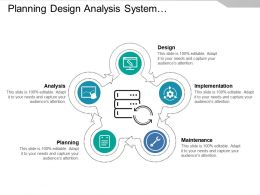 Planning Design Analysis System Development Life Cycle With Icons