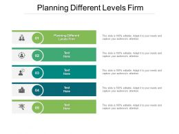 Planning Different Levels Firm Ppt Powerpoint Presentation Gallery Ideas Cpb