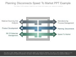 Planning Disconnects Speed To Market Ppt Example