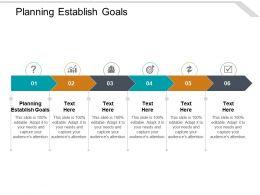 Planning Establish Goals Ppt Powerpoint Presentation Styles Show Cpb