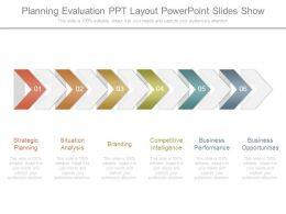 Planning Evaluation Ppt Layout Powerpoint Slides Show