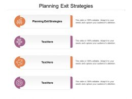 Planning Exit Strategies Ppt Powerpoint Presentation Model Deck Cpb