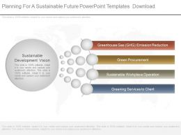 Planning For A Sustainable Future Powerpoint Templates Download