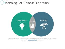 Planning For Business Expansion Powerpoint Slide Deck Samples