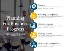Planning For Business Progress Ppt Images Gallery