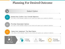 Planning For Desired Outcome Ppt Sample Presentations