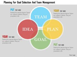 Planning For Goal Selection And Team Management Flat Powerpoint Design