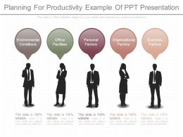 Planning For Productivity Example Of Ppt Presentation