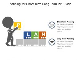 Planning For Short Term Long Term Ppt Slide