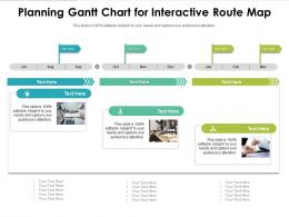 Planning Gantt Chart For Interactive Route Map