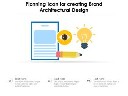 Planning Icon For Creating Brand Architectural Design