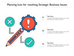 Planning Icon For Resolving Strategic Business Issues