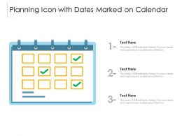Planning Icon With Dates Marked On Calendar