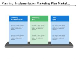 Planning Implementation Marketing Plan Market Segments Delivery Methods