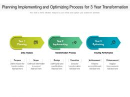 Planning Implementing And Optimizing Process For 3 Year Transformation