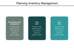 Planning Inventory Management Ppt Powerpoint Presentation Model Slides Cpb