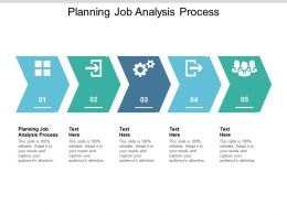 Planning Job Analysis Process Ppt Powerpoint Presentation Outline Maker Cpb