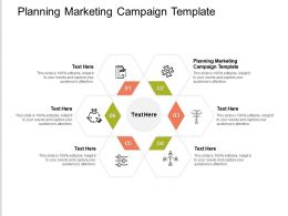 Planning Marketing Campaign Template Ppt Powerpoint Presentation Portfolio Summary Cpb