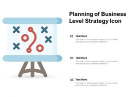 Planning Of Business Level Strategy Icon