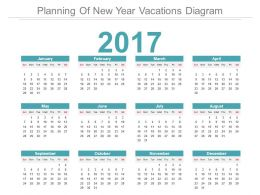 Planning Of New Year Vacations Diagram