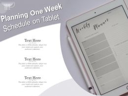 Planning One Week Schedule On Tablet