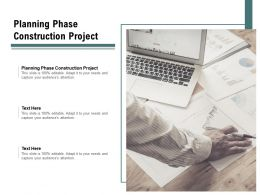 Planning Phase Construction Project Ppt Powerpoint Presentation Model Deck Cpb