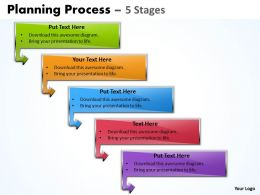 Planning Process Diagram With 5 Stages