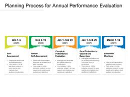 Planning Process For Annual Performance Evaluation