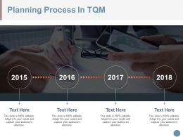 Planning Process In Tqm Example Of Ppt Presentation