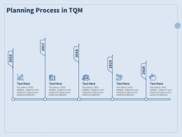Planning Process In TQM Growth Ppt Powerpoint Presentation Slides Aids