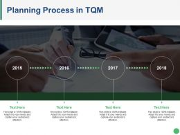 Planning Process In Tqm Ppt Design