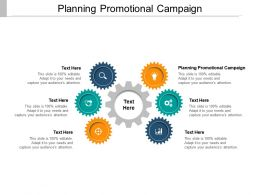 Planning Promotional Campaign Ppt Powerpoint Presentation Summary Vector Cpb