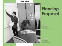 Planning Proposal Powerpoint Presentation Slides
