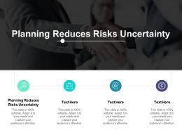 Planning Reduces Risks Uncertainty Ppt Powerpoint File Aids Cpb