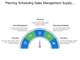 Planning Scheduling Sales Management Supply Chain Strategy Planning
