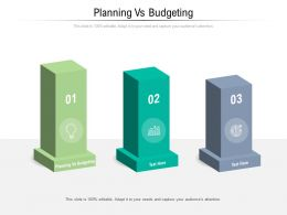 Planning Vs Budgeting Ppt Powerpoint Presentation Layouts Elements Cpb