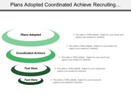 Plans Adopted Coordinated Achieve Recruiting Additional Retaining Advancements