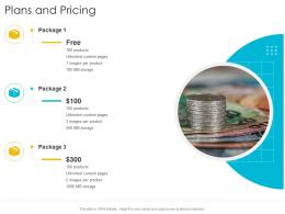 Plans And Pricing Startup Company Strategy Ppt Powerpoint Presentation Icon Deck