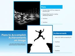 Plans To Accomplish Achievements On Image