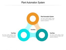 Plant Automation System Ppt Powerpoint Presentation Icon Background Images Cpb